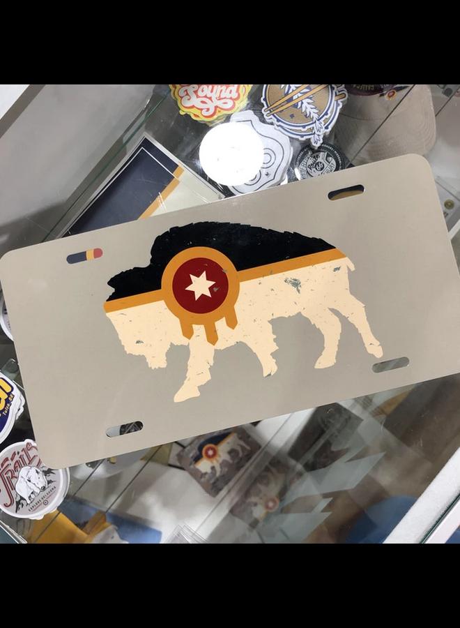 Bison Flag License Plate
