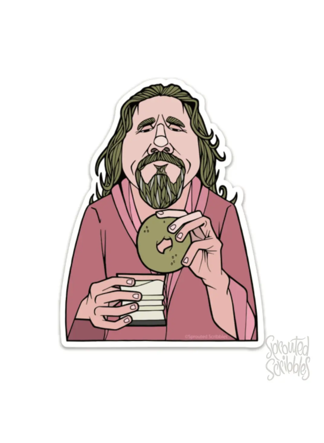 The Dude Big Lebowski Caricature Sticker