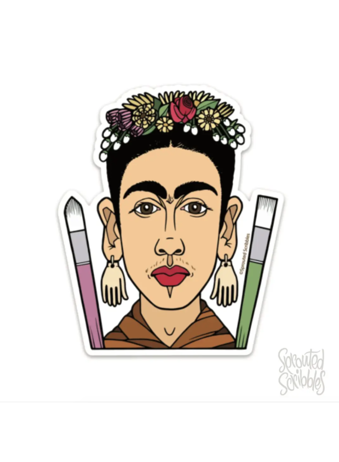 Frida Kahlo Caricature Sticker