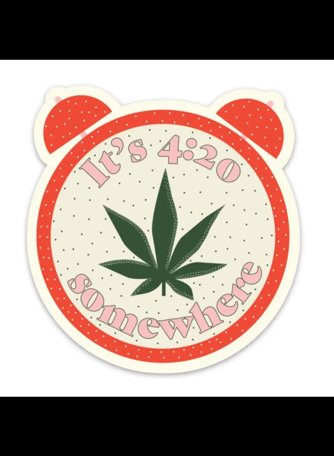 It's 4:20 Somewhere Sticker