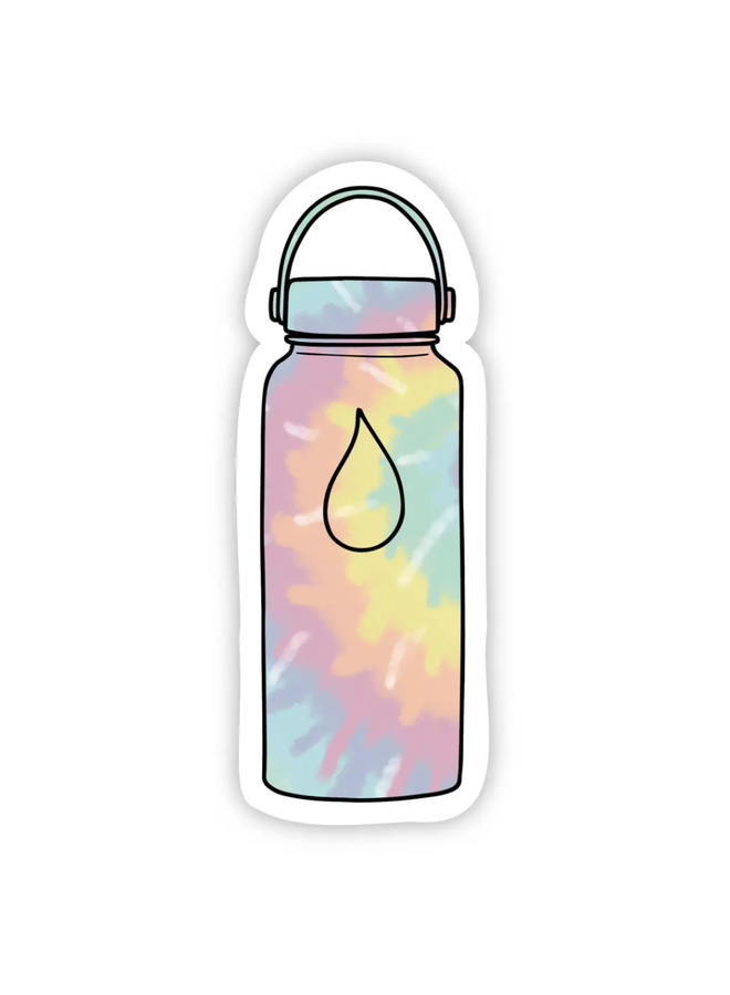 Water Bottle Tie Dye Sticker