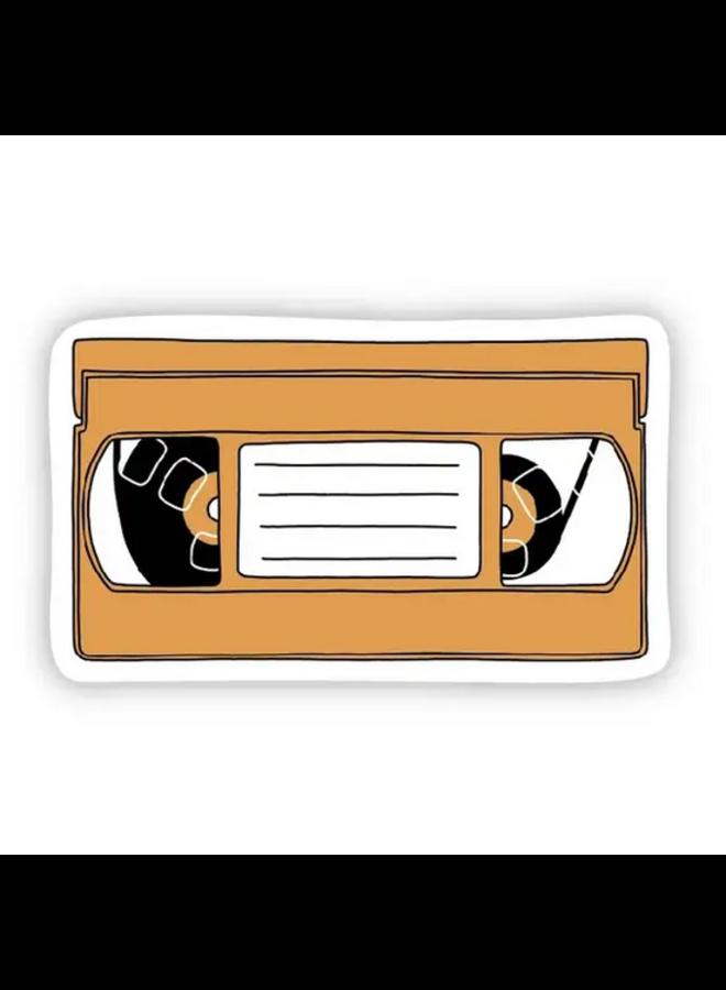 Orange VHS Sticker