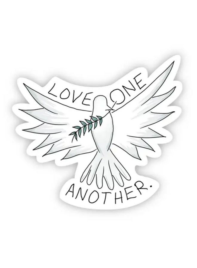 Love One Another Dove Sticker