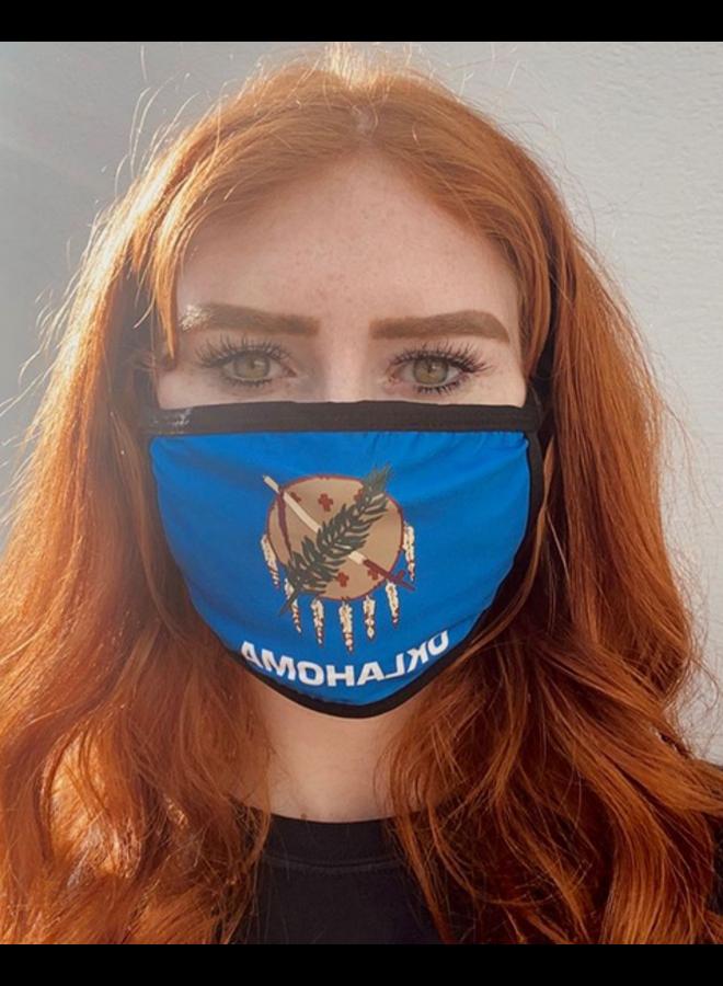 Oklahoma Flag Face Mask