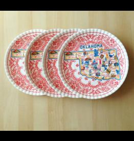 "One Hundred 80 Degrees Oklahoma ""Paper"" Plate, St/4, 9"""
