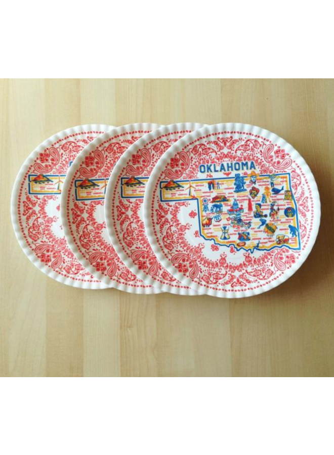 """Oklahoma """"Paper"""" Plate, St/4, 9"""""""