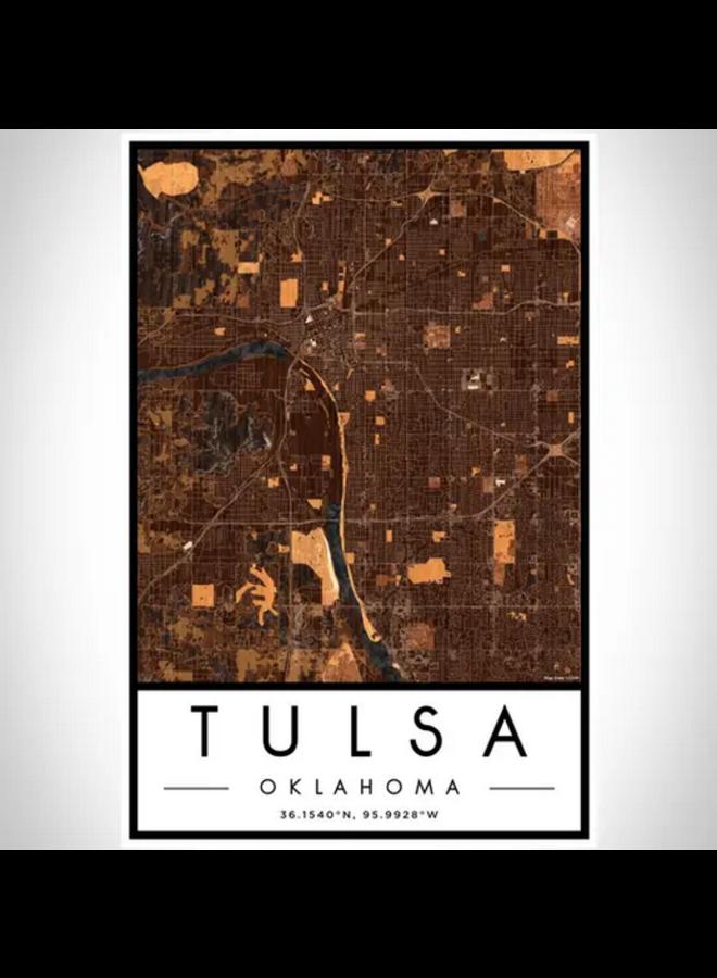 Tulsa Map Print