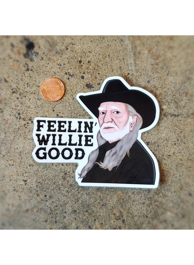 Feelin Willie Good Sticker
