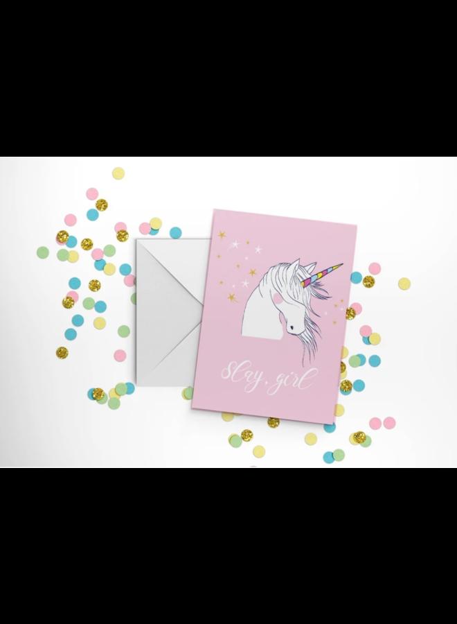 Slay Girl Card