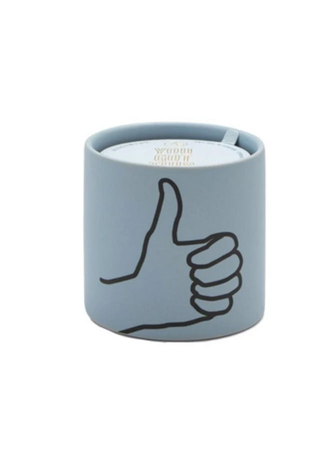 Thumbs Up Impression Candle
