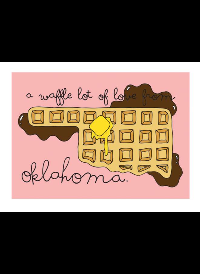 Waffle Oklahoma Postcard