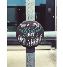 Ida Red God Made Oklahoma Magnet