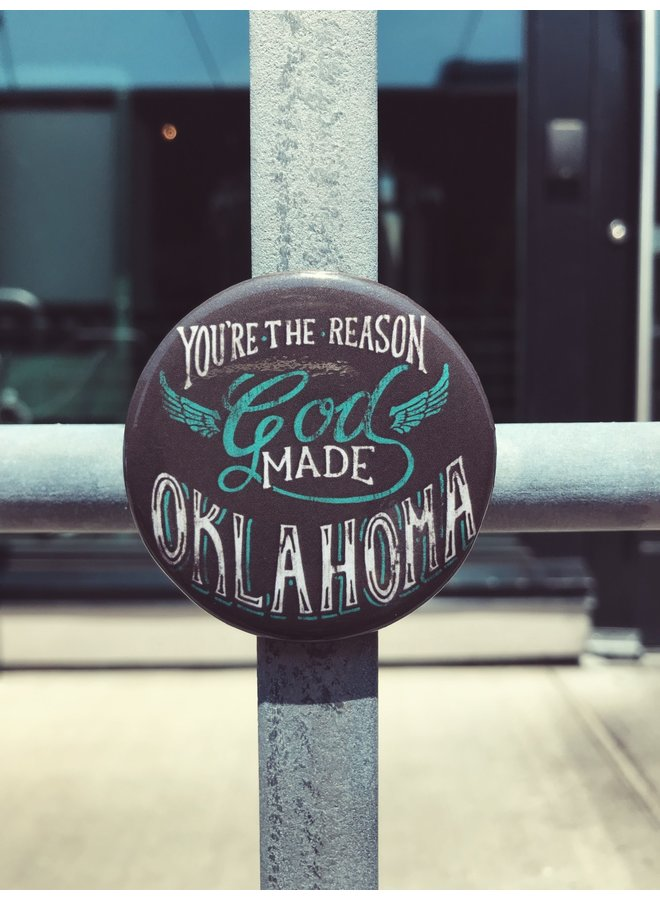 God Made Oklahoma Magnet