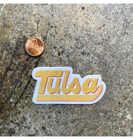 Ida Red Tulsa Baseball Script Sticker