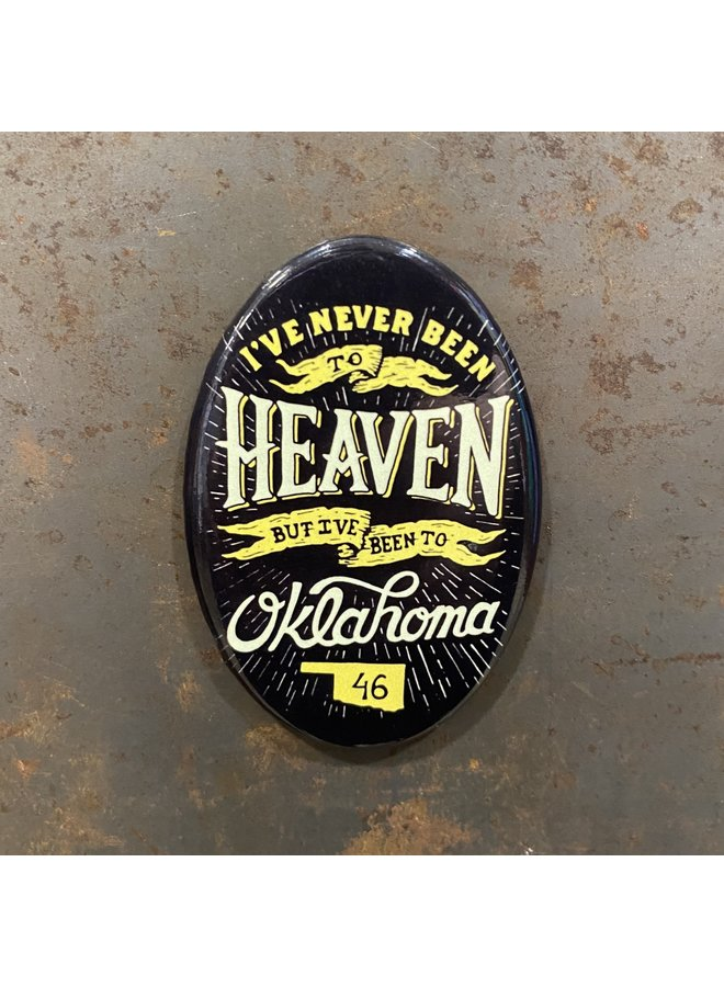 Heaven Oval Magnet