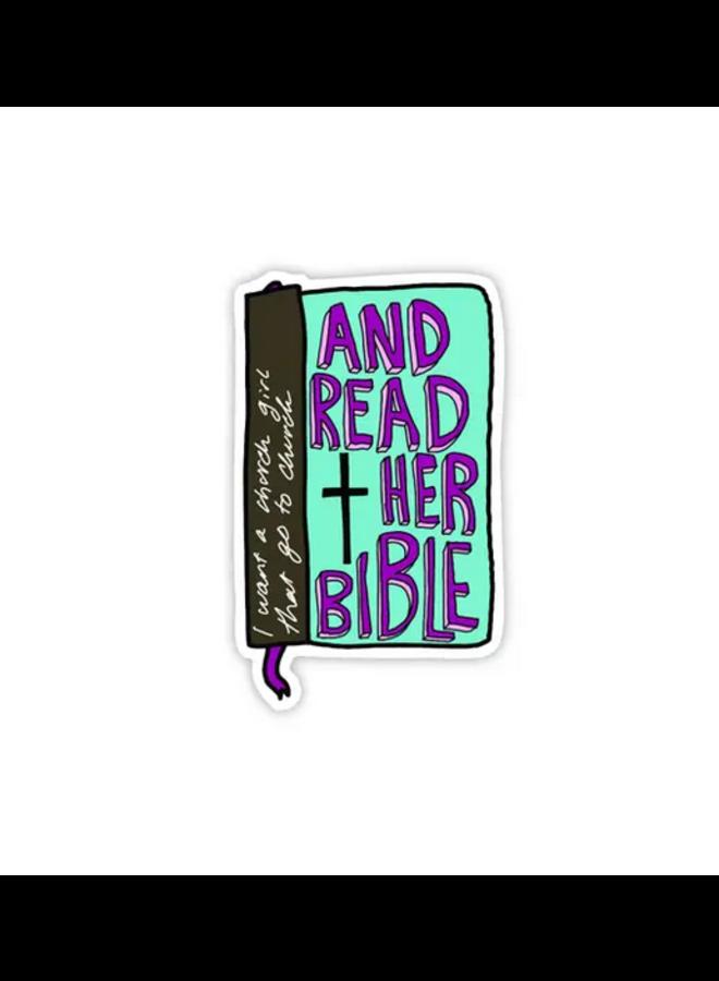 I Want A Church Girl Sticker