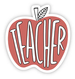 Big Moods Teacher Red Apple Sticker