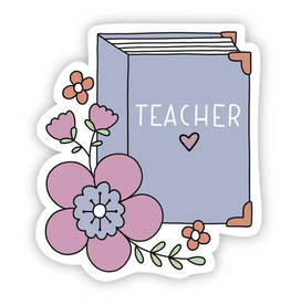 Big Moods Teacher Floral Book Sticker