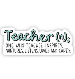 Big Moods Teacher Definition Sticker