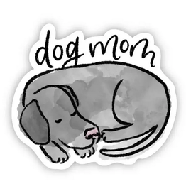 Big Moods Dog Mom Sticker - Grey