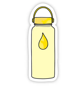 Big Moods Yellow Water Bottle Sticker