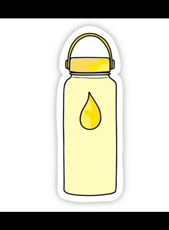 Yellow Water Bottle Sticker