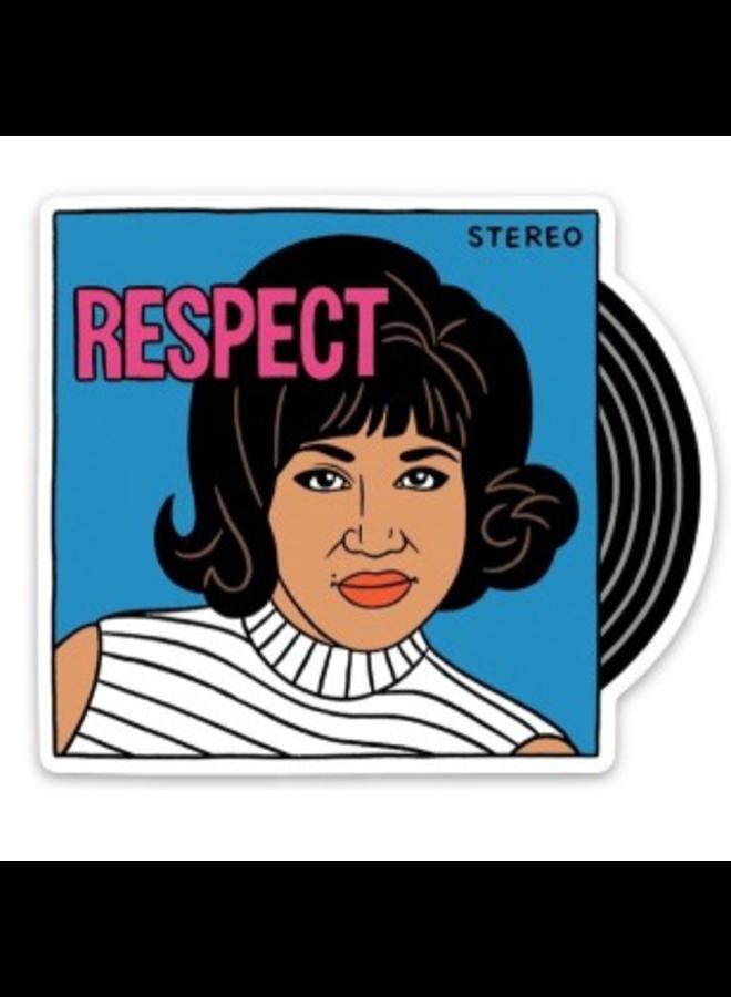 Aretha Respect Sticker