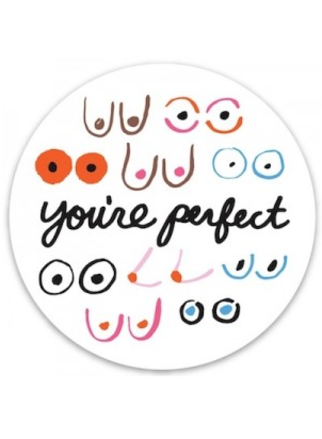 Boobs You're Perfect Sticker