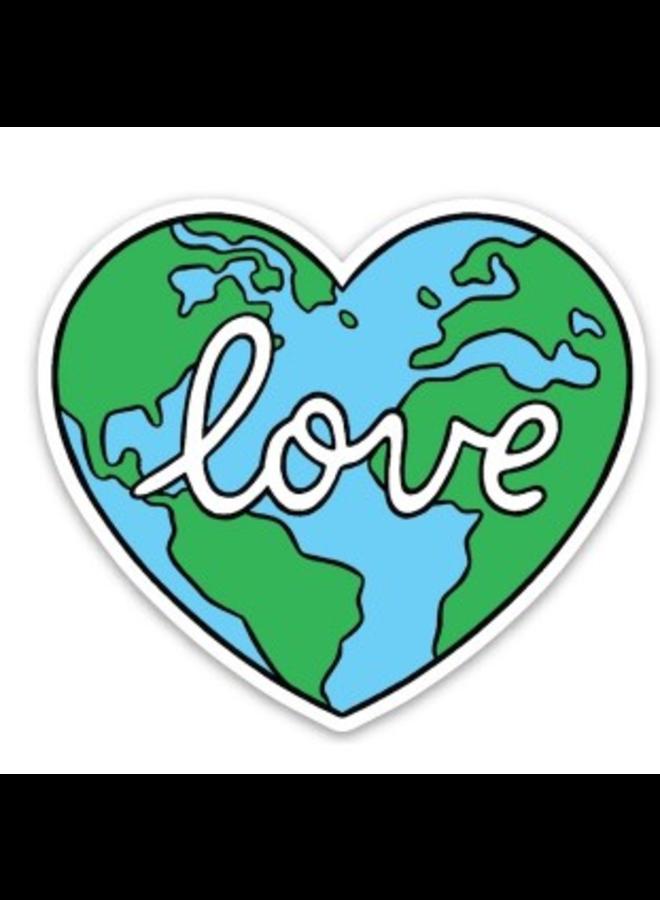 Love Earth Sticker