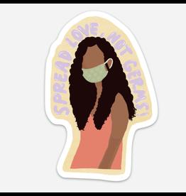 Ida Red Spread Love, Not Germs Sticker