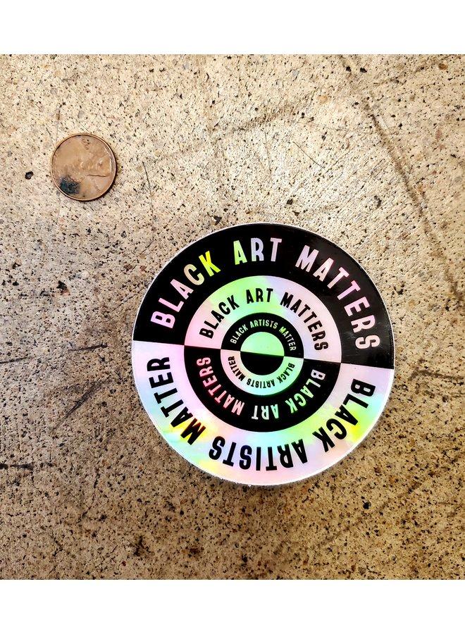 Black Art Matters Holo Sticker