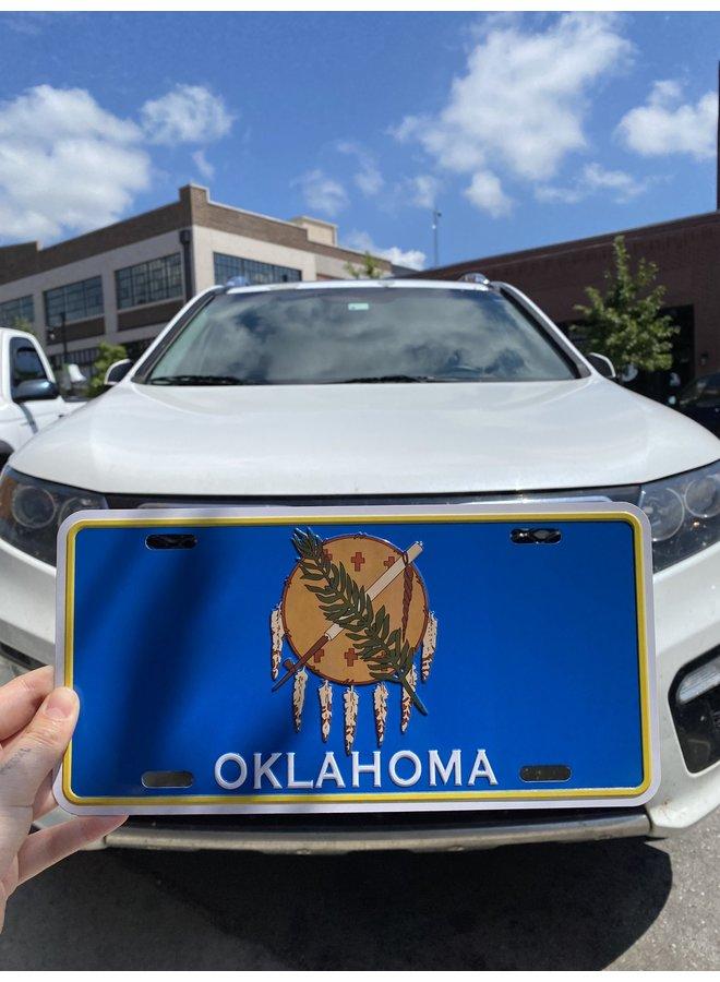 Oklahoma Flag License Plate