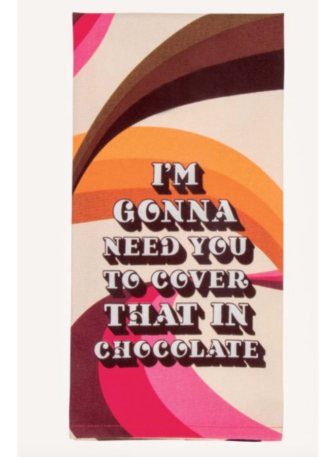 Cover In Chocolate Dish Towel