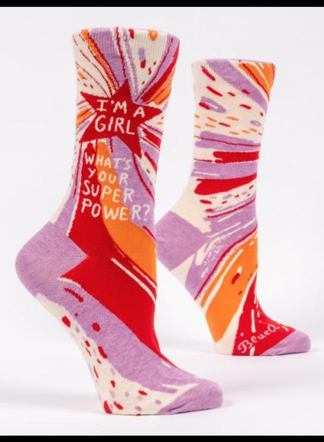 Superpower Women's Crew Socks