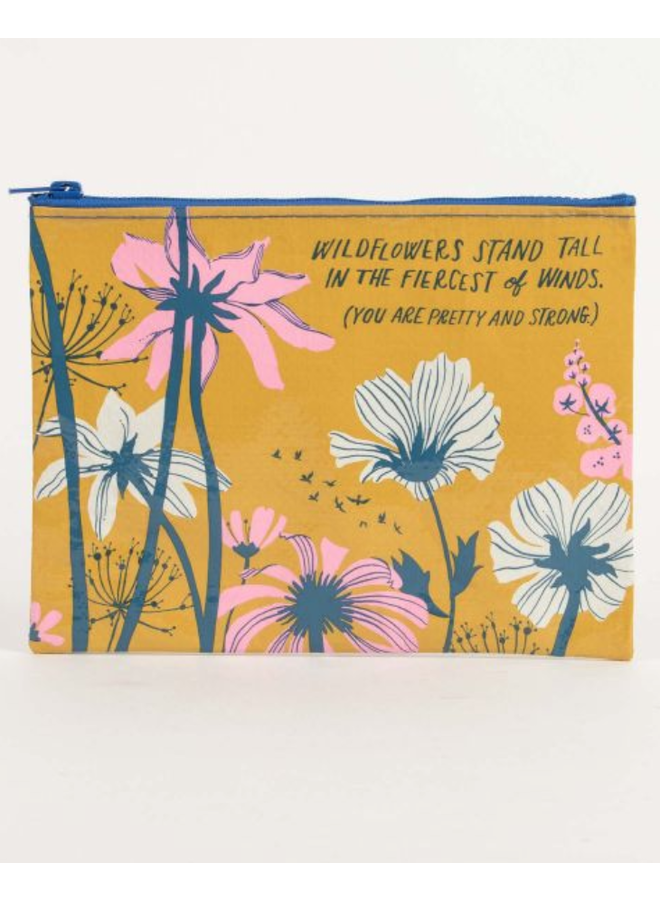 Wildflowers Stand Zipper Pouch