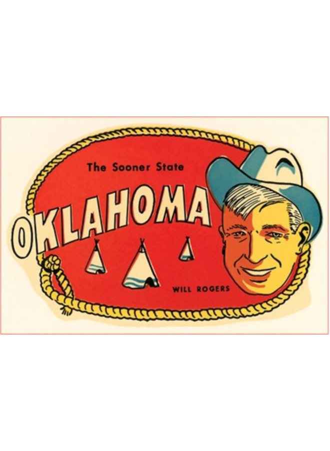 Will Rogers Sooner State Postcard