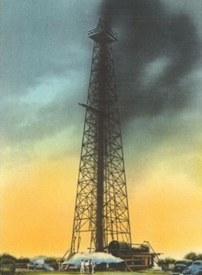 Spurting Oil Well Postcard