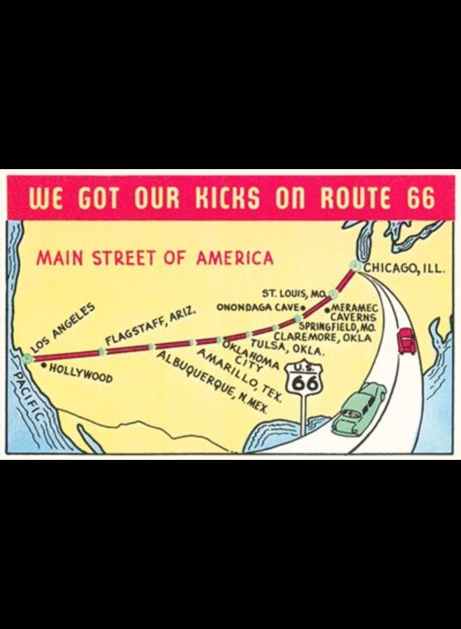 Kicks On Route 66 Art Print