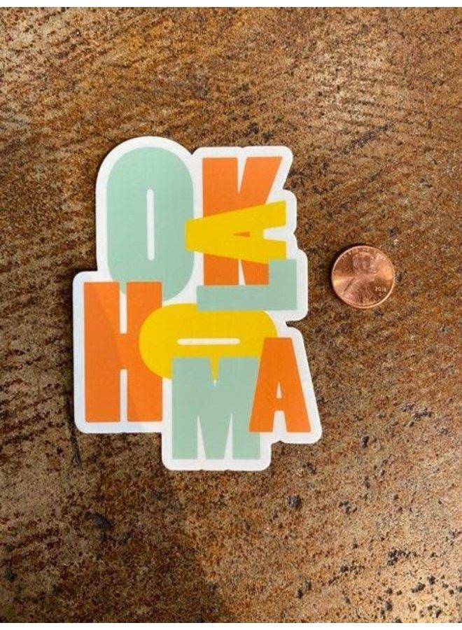 Oklahoma Color Block Sticker
