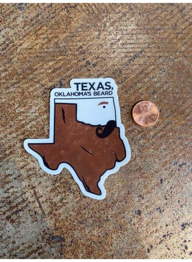 Texas Beard Sticker
