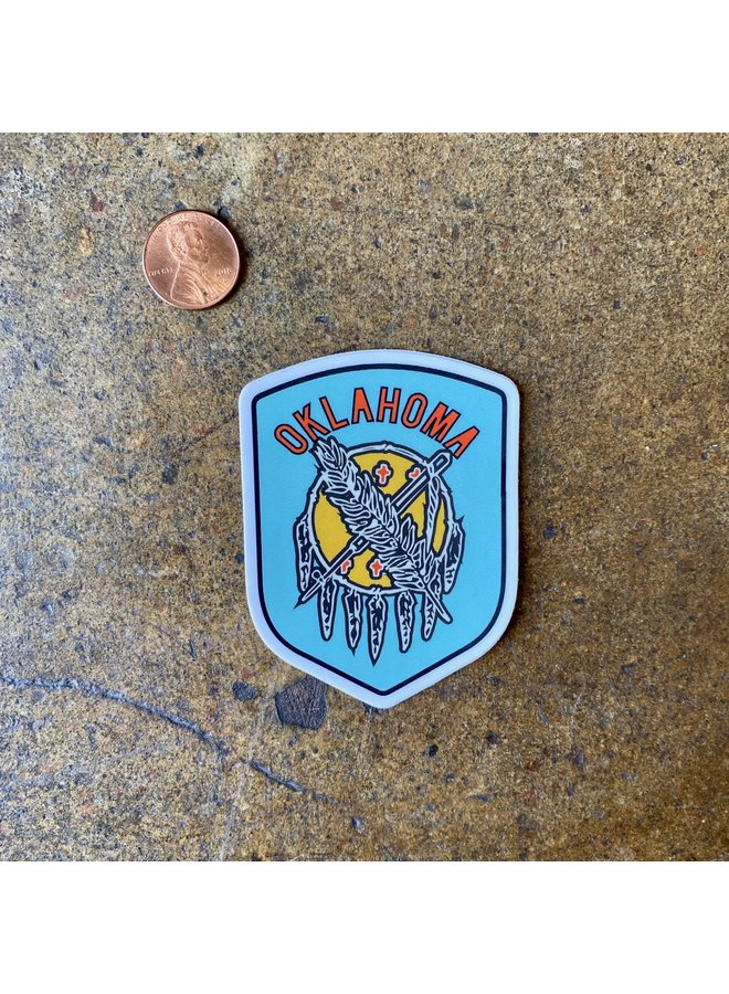 Oklahoma Shield Badge Sticker