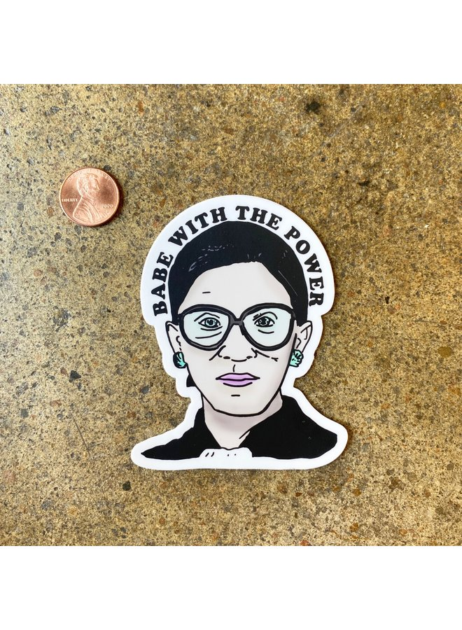 RBG Babe With Power Color Sticker