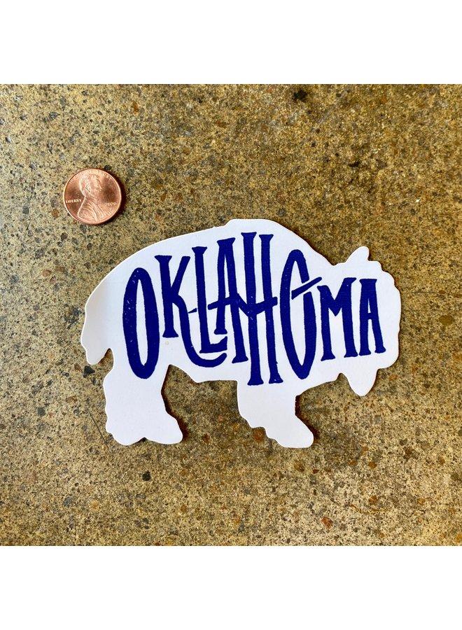 Oklahoma Bison Sticker