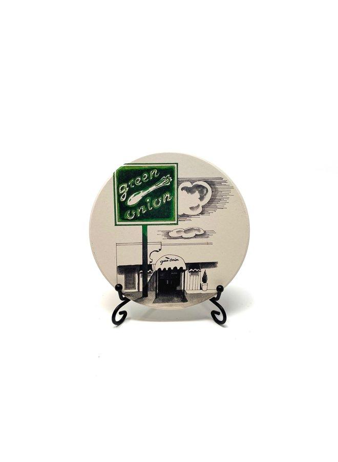Green Onion Coaster