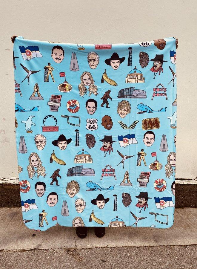 Tulsa Icons Sherpa Fleece Blanket