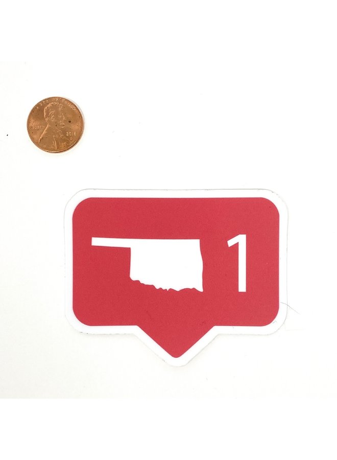 Oklahoma Social Media Comment Sticker