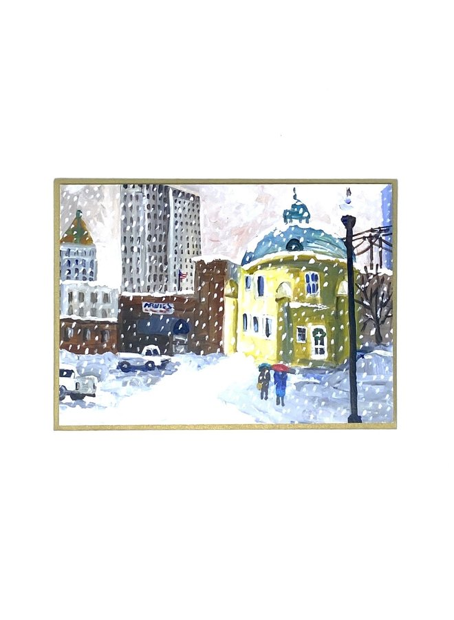 Blue Dome Holiday Card
