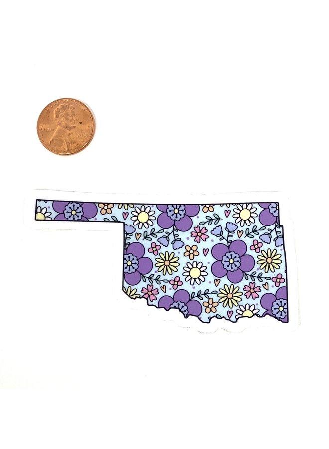Oklahoma Floral Sticker