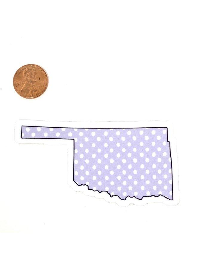Oklahoma Polka Dot Sticker