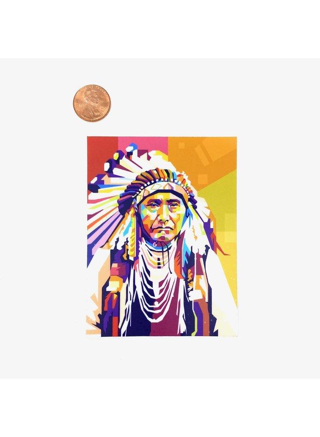Native Headdress Pop Art Sticker